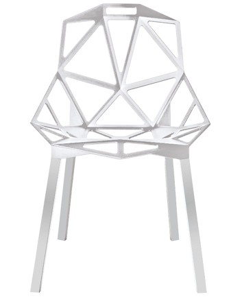 Triangle Arm Chair White
