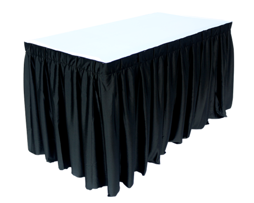 4x2ft Rectangle Table Black with Skirting