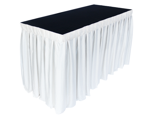 4x2ft Rectangle Table White with Skirting