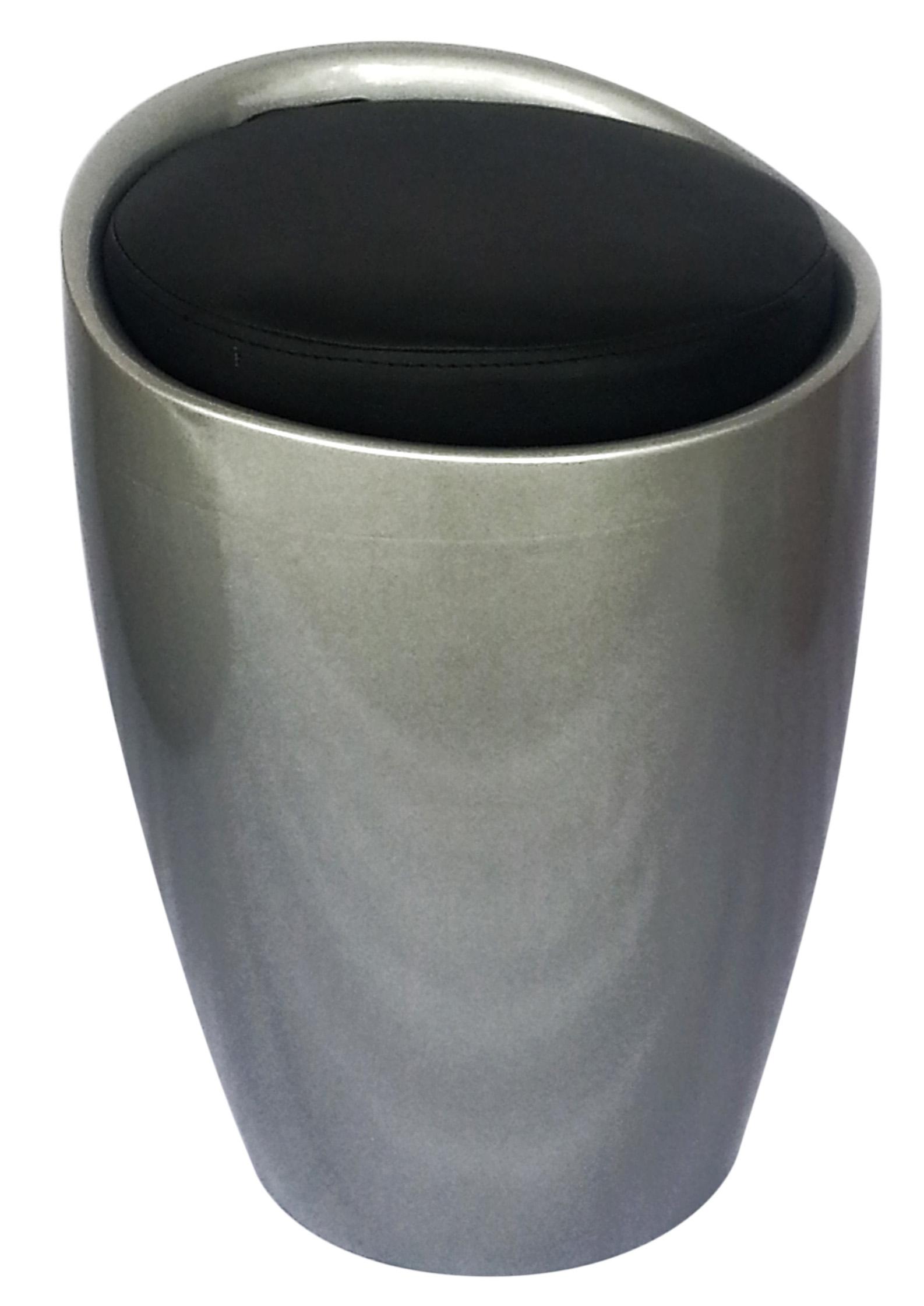 Conga Stool Silver