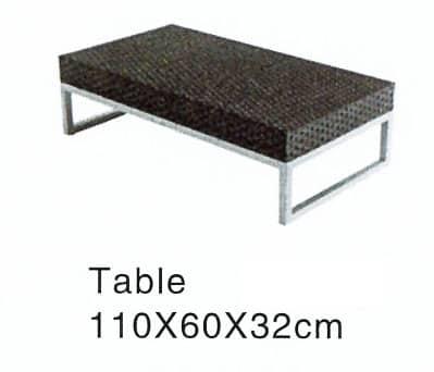 Rattan Rectangle Table
