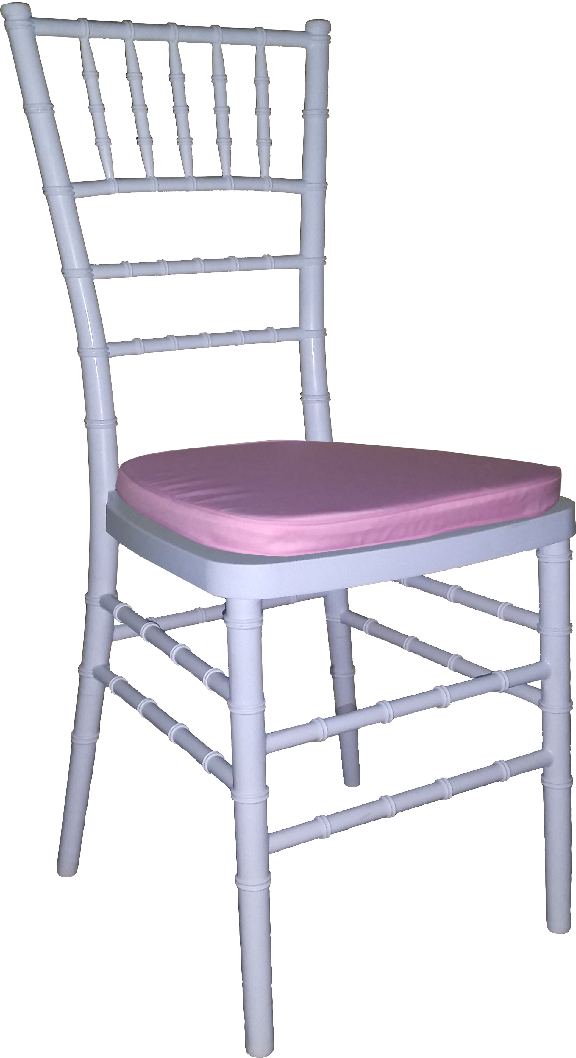 Tiffany Chair White With Baby Pink Cushion