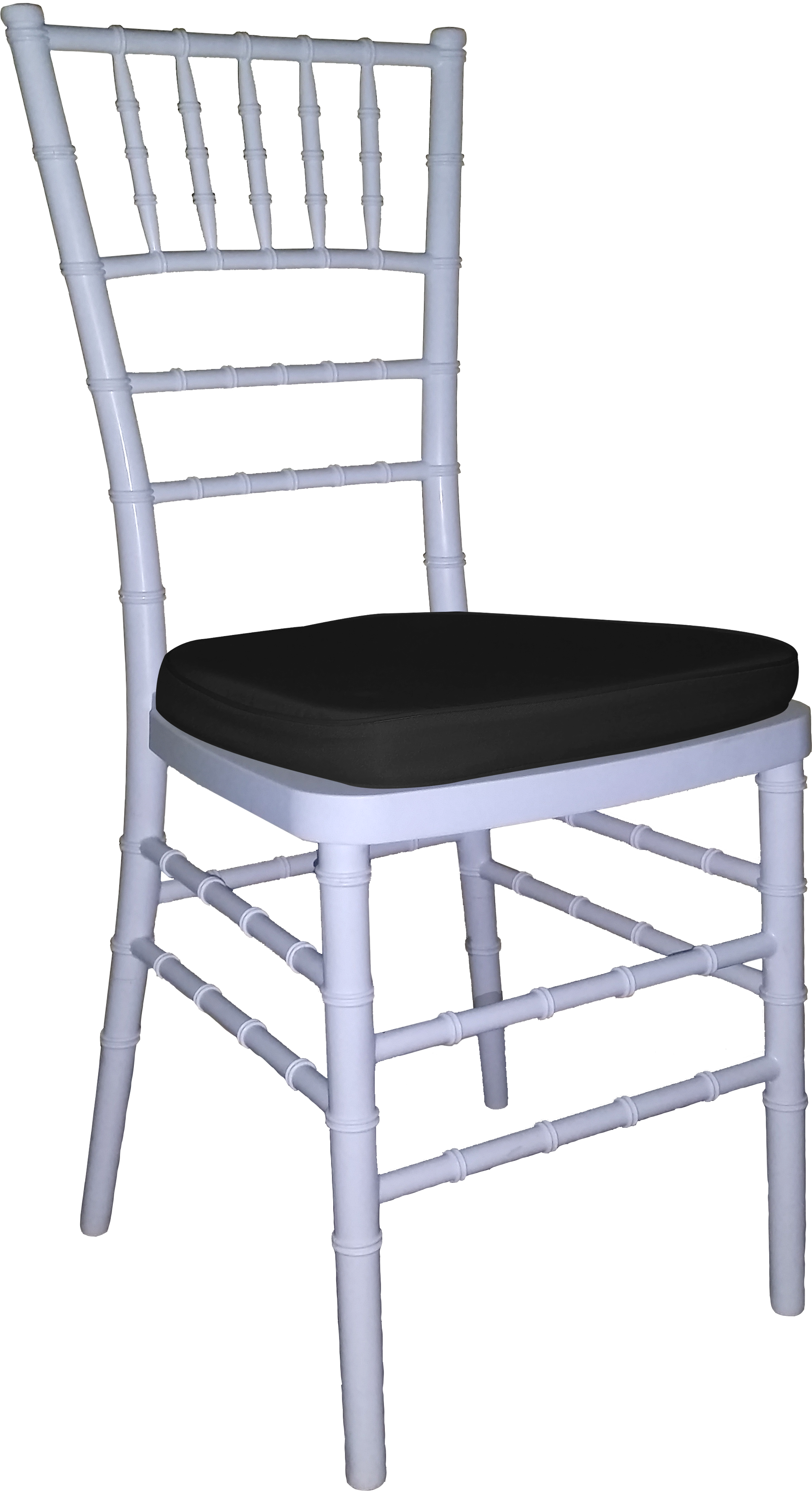 Tiffany Chair White With Black Cushion