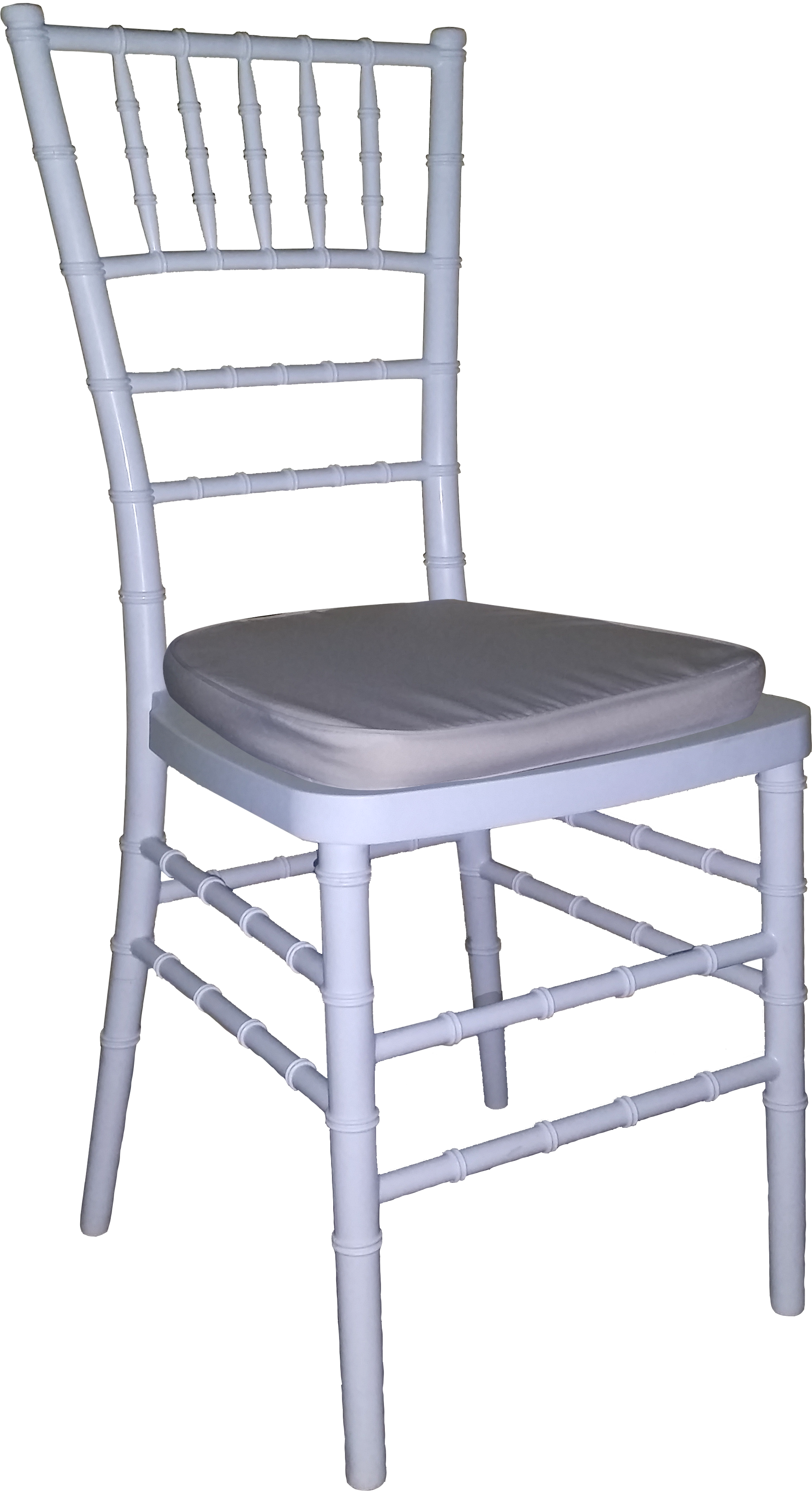Tiffany Chair White With Creme Cushion