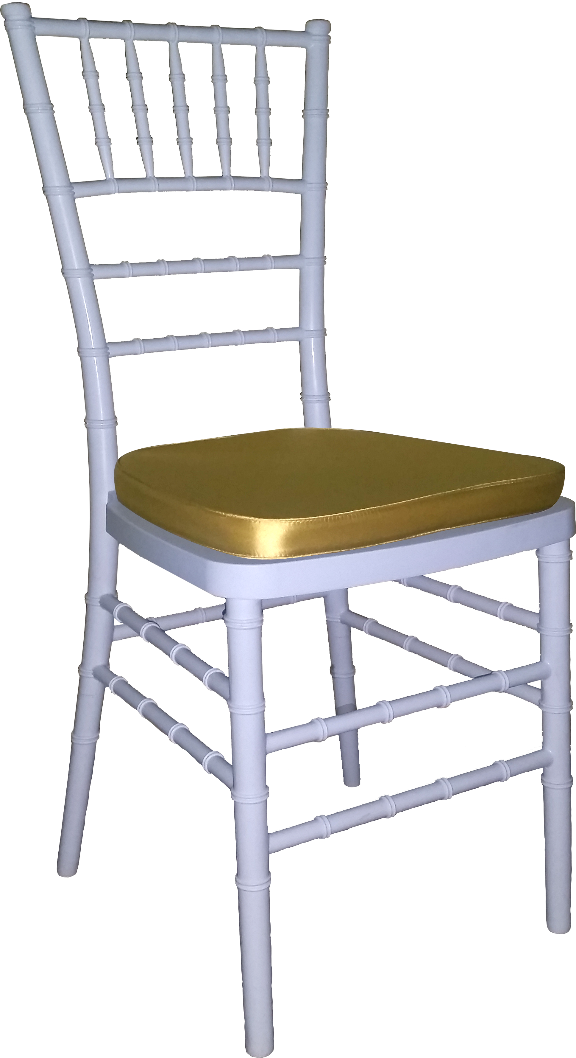 Tiffany Chair White With Gold Cushion
