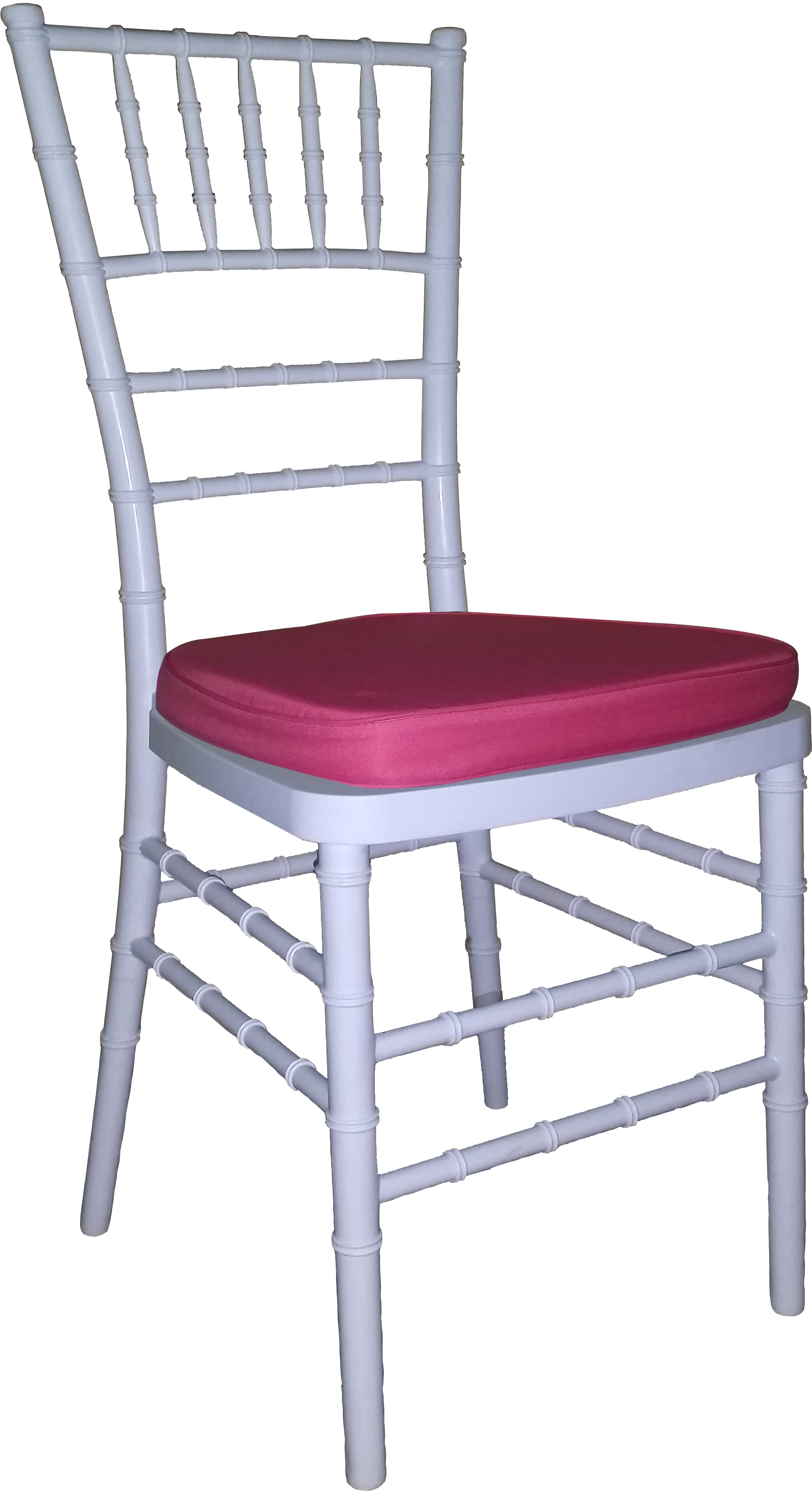 Tiffany Chair White With Hot Pink Cushion