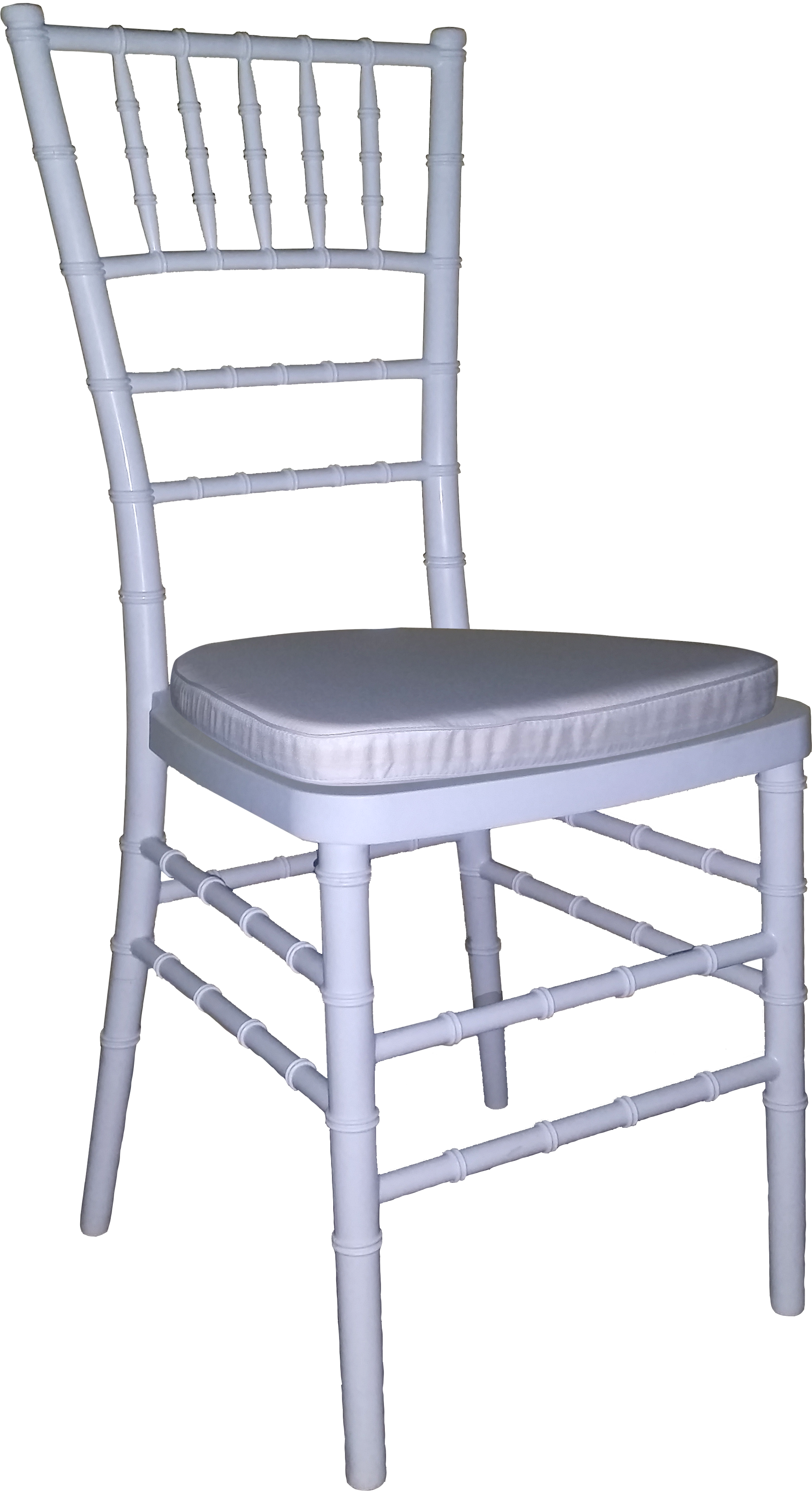 Tiffany Chair White With White Cushion