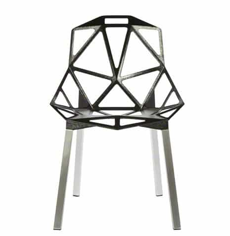 Triangle Arm Chair Black