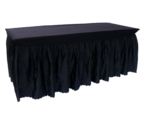 Trist Table with Black Skirting